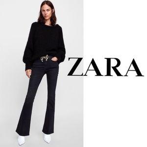 Zara Woman The Skinny Flare Jean Moore Black NWT